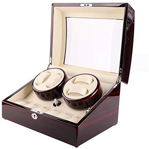 Motor Shaker Watch Winder, AccesoriosWatch Cajas, Reloj de pulsera Nuevo diseño Soporte Display 4+6 Automático Mute Reloj Mecánico