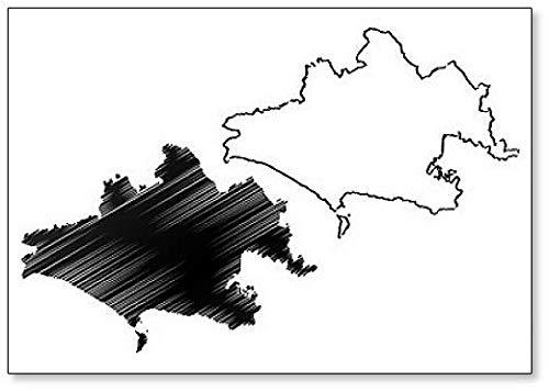 Imán para nevera con diseño de mapa de Dorset (Reino Unido, Inglaterra, condado no metropolitano)