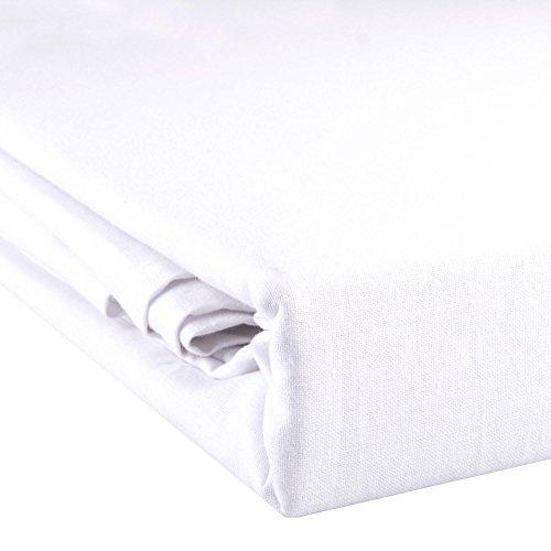 aqua-textil Noblesse Bettlaken ohne Spanngummi 150 x 250 cm weiß Baumwolle leichte Sommer-Bettdecke