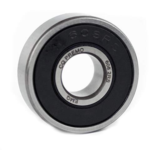 608 2RS / 608rs Kugellager 8x22x7 mm (22x8x7 mm) - Elektro-Motoren-Qualität Z2/V2 - Präzisionslager ABEC-3 - V-Dichtung