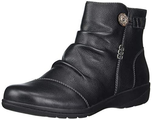 Clarks Women's Cheyn Zoe Ankle Boot, Black Leather, 9