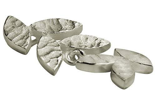 SILBERMOOS Damen Anhänger kleines Blatt filigran matt 925 Sterling Silber