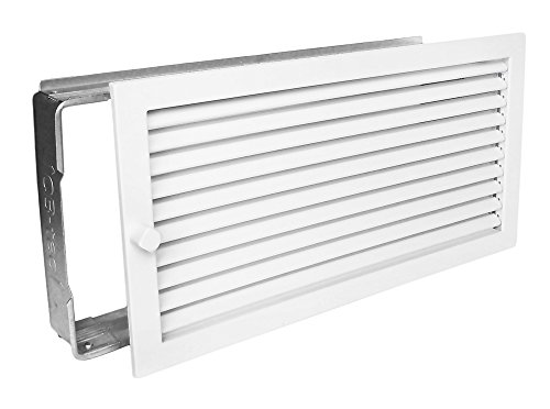 Warmluftgitter WG 4523 W Weiss 450 x 230 mm mit Einbaurahmen
