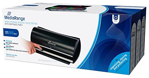 MediaRange BOX81 Selector 100 (Archivierungssystem für 100 Discs, mit beschreibbarem Index) schwarz