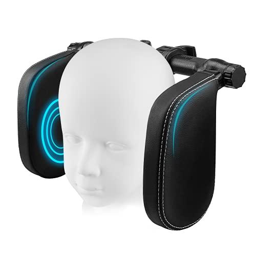 Kopfstütze Auto Kinder, Nackenstütze Kissen Verstellbares U-förmiges Auto-Schlafkissen für Kinder und Erwachsene, Schwarz