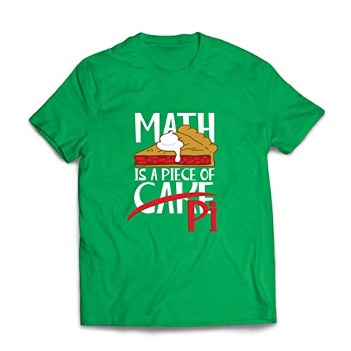lepni.me Mannen T-shirt Math is a Piece of Cake Pi Number Funny Math Saying