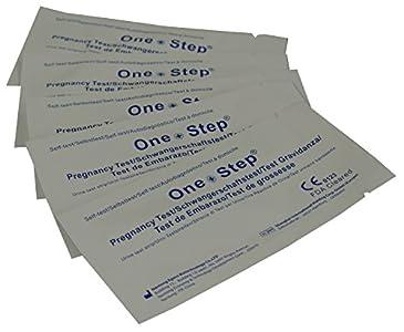 One Step - 10 Tests de Embarazo 10 mIU/ml - Nuevo Formato Económico de 2,5 mm.