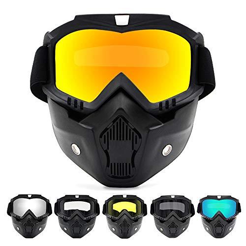 APROTII Clearer Vision - Gafas de sol para esquí y snowboard (cristal de invierno, motonieve, resistente al viento, esquí, motocross, con filtro de boca