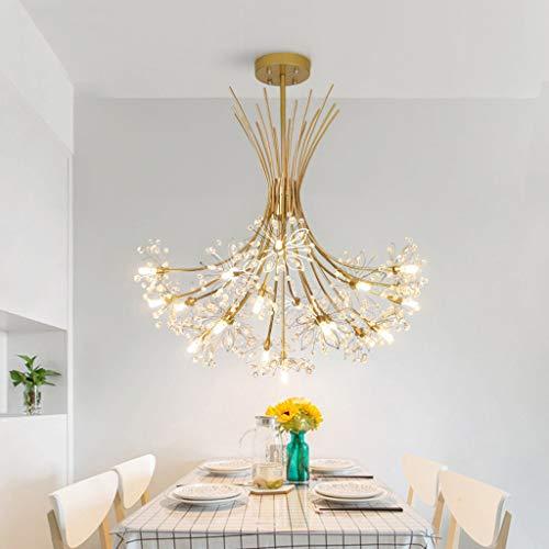 Kristallleuchter, Kreativer Löwenzahn-Blumenstrauß-Moderner Leuchter, Eingebettete Deckenleuchte für Schlafzimmer, Wohnzimmer, Badezimmer, Esszimmer