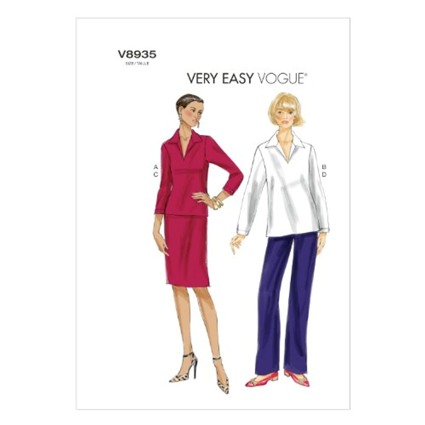 Vogue Patterns V8935 Misses' Top, Skirt and Pants Sewing Templates, Size B5 (8-10-12-14-16)