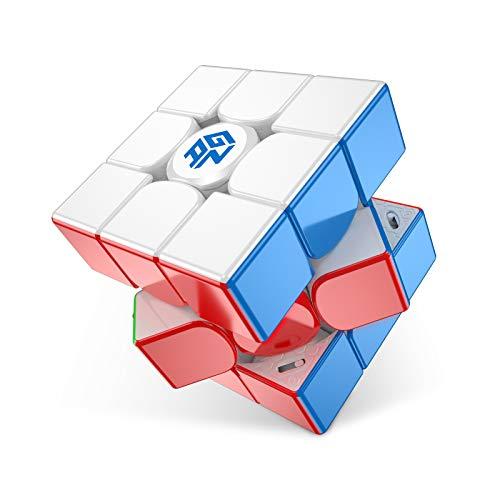 GAN 11 M PRO, 3x3 Magnetico Cubo velocità Magico Giocattolo Puzzle Stickerless Cubo Professionale (Rivestito UV)