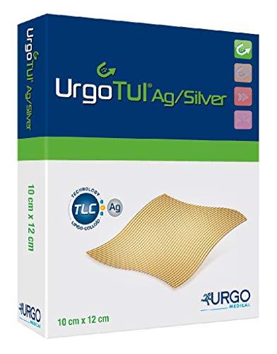 urgo 509360 Verbände, Urgotül, 5 cm x 5 cm, Silber (10-er pack)