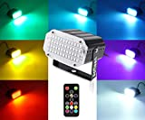 Mini Stage Strobe Light with 48 Super Bright Led, softeen 7 Colors Sound