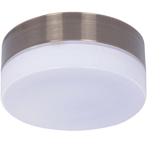 Beleuchtung Clipper für Deckenventilator von Lucci air, Messing Antik, inkl. LED-Leuchtmittel GX53, 11 W