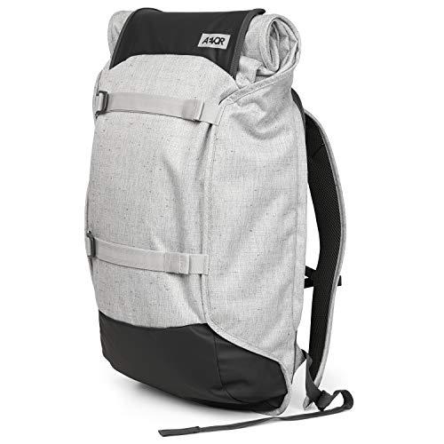 AEVOR Trip Pack - erweiterbarer Rucksack, ergonomisch, Laptopfach, wasserabweisend - Bichrome Steam - Hellgrau