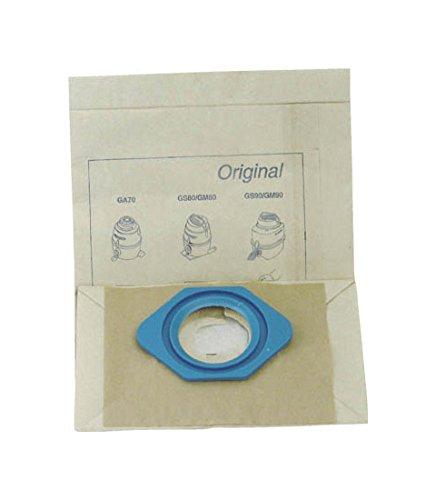 Nilfisk 81620000 Sac d'aspirateur Original, Beige, Lot de 5, Plastique, 26,4 x 13,8 x 4,4 cm