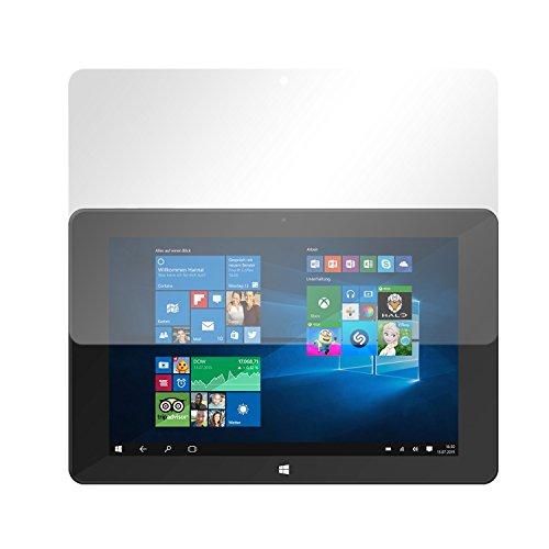 Slabo 2 x Bildschirmschutzfolie für TrekStor SurfTab Duo W1 Bildschirmschutz Schutzfolie Folie Crystal Clear KLAR