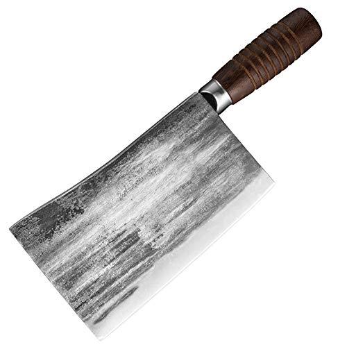 hj Macheta Cocina Cuchillo de Cocina Chino, Cuchillo de Carnicero de Chef Macheta de Cocina China Profesional con Hoja Afilada para Cocina Y Restaurante (Size : A)