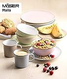 Mäser 931447 Maila, Buntes Geschirr-Set für 4 Personen im modernen Vintage-Look, 16-teiliges Kombiservice im Retro-Design, Steinzeug - 2