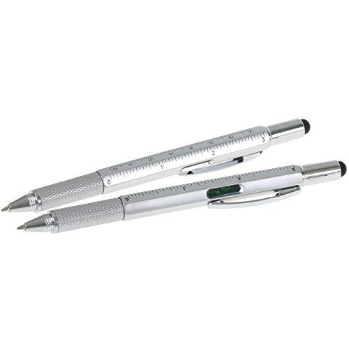 10 x Kugelschreiber Ben für Handwerker mit Wasserwaage Lineal Touchpen inklusive Werbedruck 1-farbig