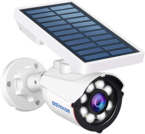SZSINOCAM Luce Solare Esterno con Sensore di Movimento,Wireless 8 LED Luce Esterno Solare Sensore Movimento,88 Lume Luci Solari da Parete Impermeabile,Luce Solare Esterno Giardino,Patio,Portico
