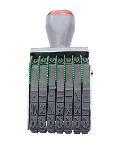 Sello de rodillo de 7 dígitos Número personalizado Sello de goma Símbolo Sello de rueda rodante Multifunción DIY Scrapbooking Roller Papelería Sello de fecha