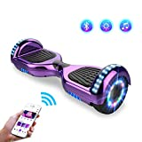 Hoverboards, Bluetooth 6.5 Pouces Self Balancing Scooter Gyropode avec Roues Flash LED E-Scooter z29 (Purple)