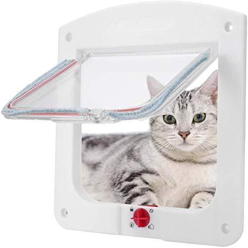 AKL Cat Doors for Interior Doors, Pet Cats Exterior Kitty Door Best for Indoor Flap Inside Hole,Magnetic Pet Door Kit Weather-Resistant Cat Door for Cats & Doggy