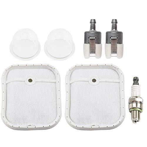 Kizut 528074701 Air Filter for RedMax CHTZ2460 BCZ2460TS BCZ2460S BCZ2650S BCZ230TS BCZ2450S BCZ260TS BCZ2660TS BCZ3050S BCZ3060TS HTZ2460 Trimmer Parts Brushcutter Primer Bulb Spark Plug