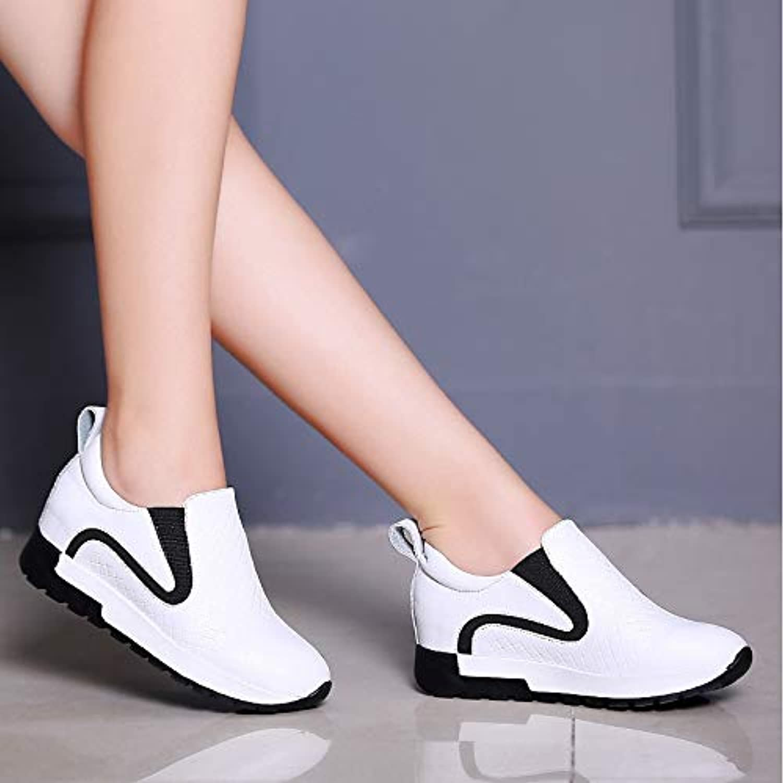 Women's shoes PU(Polyurethane) Spring Fall Comfort Sneakers Flat Heel White Black