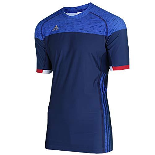 adidas Herren Training Trikot FFHB Shirt Sportshirt (blau, XL)
