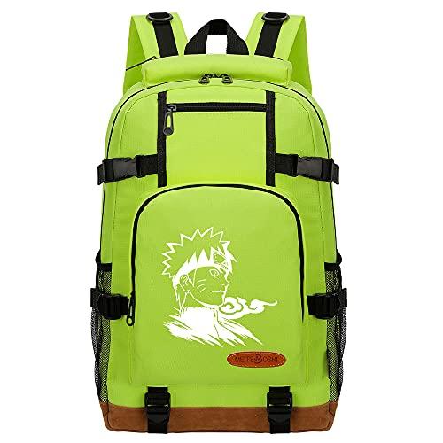 CXWLK Mochila Mujer Casual Escolar De Moda para Portatil Backpack Mochilas Impermeable para Trabajo Bag Mochila De Gran Capacidad,Naruto,Green,46cmX29cmX13cm