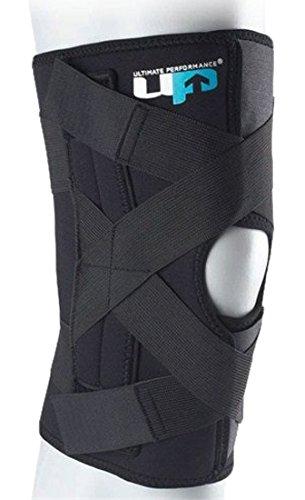 Ultimate Performance Kniebandage zum Wickeln - Aussparung um die Kniescheibe - Unterstützung der Bänder - Groß