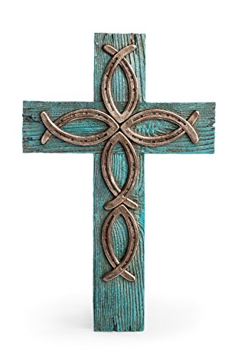 Bay Area Housewares Ichthus Jesus Fish Crucifix - Large Wall Cross 15.5 Inch Tall X 10 Inch Wide