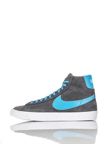 Nike Zapatillas Blazer Mid Vintage (GS) Gris/Azul EU 35.5 (US 3.5Y)