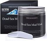 Maschera di fango del Mar Morto per il trattamento del viso - 100% naturale e organico, per pulizia profonda della pelle, pulisce l'acne e i punti neri, riduce i pori e le rughe, 250g