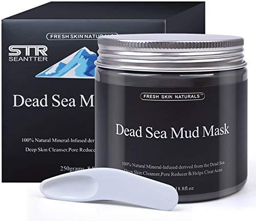 Maschera di fango del Mar Morto per il trattamento del viso - 100% naturale e organico, per pulizia profonda della pelle, pulisce l acne e i punti neri, riduce i pori e le rughe, 250g