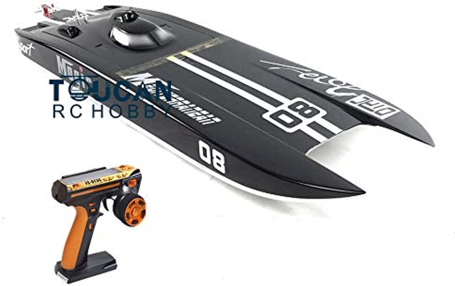 Generic E32 RTR Germany Cat Fiber Glass Electric Racing Speed RC Boat W 120A ESC 3200KV Brushless Motor Radio SystemBlack