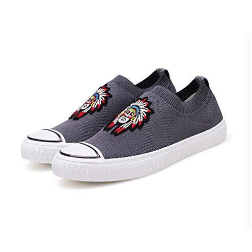 YiWu Movement Chaussures Décontractées Chaussures De Planche Hommes Paresseux Chaussures De Marée Chaussures de Sport (Couleur : Gris, Size : EU41/UK7.5-8/CN42)