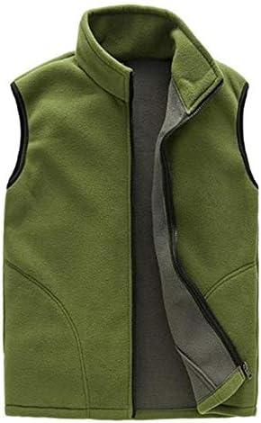 LYLY Vest Women Men Vest Casual Warm Zip Casual Fleece Vest Spring Male Waistcoat Autumn Warm Sleeveless Jacket Outdoor Vest Coat Vest Warm (Color : Deep Green, Size : M)