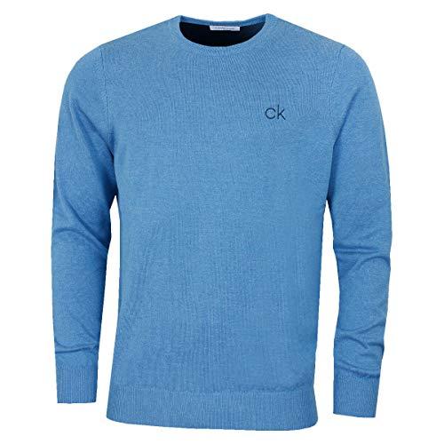 Calvin Klein Golf Hommes col Rond Pull Tour - Bleu Marl -...