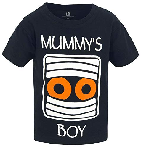 Unique Baby Boys Mummy's Boy Halloween Short Sleeved T Shirt (8) Black