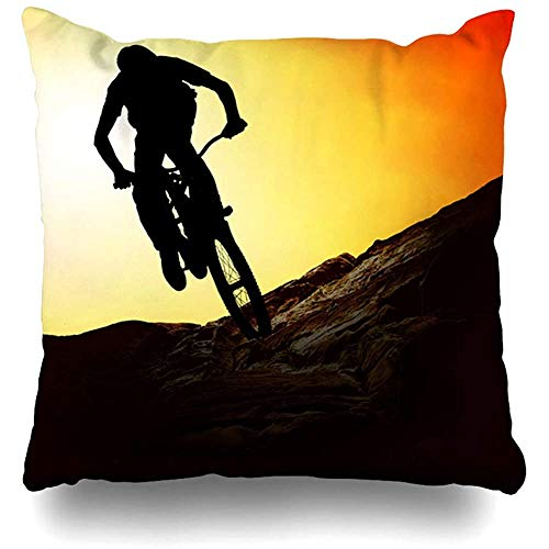 SSHELEY Contour Mountain Mountainbike Sunset Parks Fietstocht Sport Recreatie Extreme activiteit avontuur Ontwerp Kussensloop