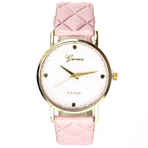 Reloj Geneva para mujer, color rosa