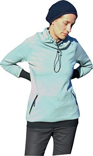Mamadu Papier- Schnittmuster: Damen Winter- Pulli (Sweatshirt, Pullover, Hoodie), Ellenbogenpatches + Daumenloch (Stulpen) für Frauen Gr. 32-54, selber Nähen Anfänger geeignet