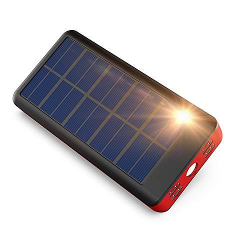 BONAI【2020最新版】モバイルバッテリー ソーラー充電器 大容量 32800mAh 急速充電 ソーラーチャージャー 4...