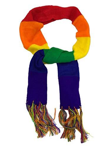 DigitalSpot Unisex Unisex Gay Pride Rainbow Schal Muffler Unisex Gay Pride Festival Kostüm Zubehör Einheitsgröße Gr. Einheitsgröße, Gay Pride Rainbow Schal