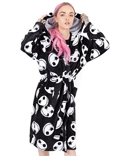 Disney Der Albtraum vor Weihnachten Dressing Gown Womens Black PJS Bademantel L