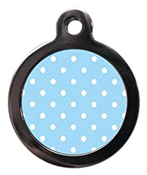 Pet Tags Made With Strong Metal Alloy with Mirror Polished Edges. 100% waterproof. Available in 2 Sizes: Small (2.4cm) & Large (3.2cm). Includes A FREE Split Ring Four Lines Of Personalised Text On The Back. Funky Designs & Practical Function. All De...