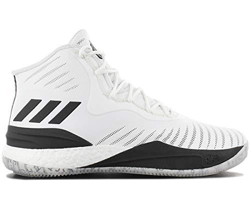 adidas Herren D Rose 8 Basketballschuhe, Weiß (Ftwwht/Cblack), 50 2/3 EU